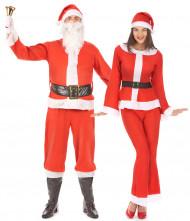 Travestimento coppia Babbo e Mamma Natale adulti