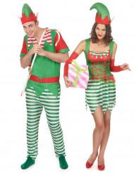 Travestimento coppia folletti Natale adulti
