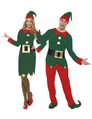 Travestimento coppia elfi Babbo Natale adulti