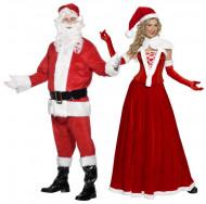 Travestimento coppia Babbo e Mamma Natale deluxe adulti