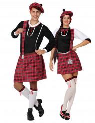 Costume di coppia scozzese tradizionale per adulto