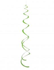 8 decorazioni da appendere spirali verdi