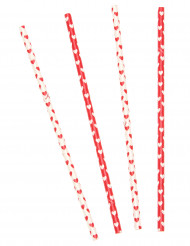 10 cannucce di cartone San Valentino