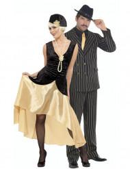 Travestimento coppia Charleston dorato
