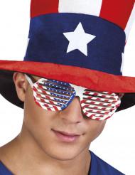 Occhiali bianchi bandiera USA adulto