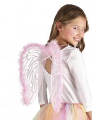 Ali angelo rosa 40 x 33 cm per bambino