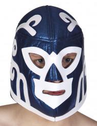 Maschera lottatore blu per adulto