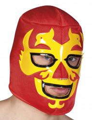 Maschera lottatore rosso per adulto