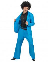 Costume disco azzurro adulto