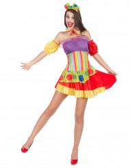 Costume da clown sbarazzino per donna