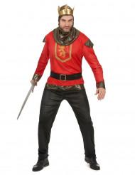 Costume da cavaliere del medioevo per uomo