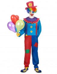 Costume da clown colorato per uomo