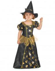 Costume da strega con teschi d