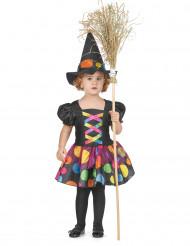Costume da strega colorata bambina