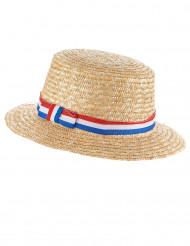 Image of        Cappello di paglia da tifoso francese