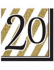 16 tovaglioli di carta numero 20