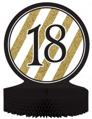 Centro tavola 18 anni nero oro