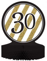Centro tavola 30 anni nero-oro