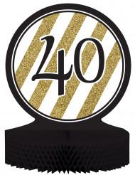 Centro tavola 40 anni nero-oro