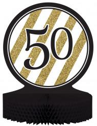 Centro tavola 50 anni nero-oro