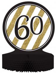Centro tavola 60 anni nero-oro