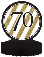 Centro tavola 70 anni nero-oro
