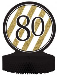 Centro tavola 80 anni bianco e oro
