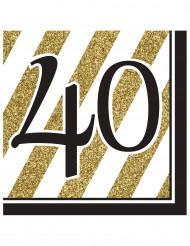 16 tovaglioli 40 anni