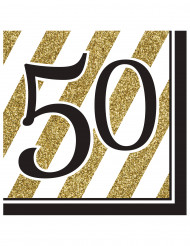 16 tovaglioli 50 anni