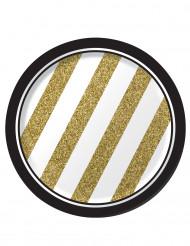 8 piatti di cartone nero e oro