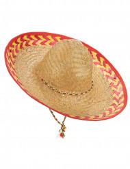 Cappello messicano adulto in paglia
