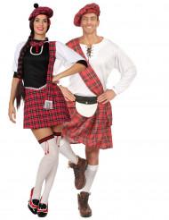 Costume di coppia scozzese corto per adulti