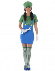 Costume da Idraulico verde blu per donna