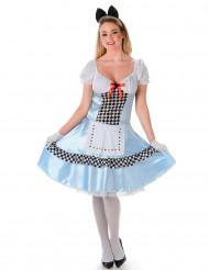 Costume da Alice con fiocco per donna