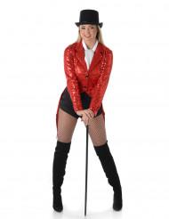 Costume giacca cabaret rossa donna
