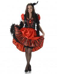 Costume saloon rosso per donna