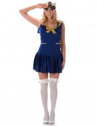 Costume da marinaio blu e oro per donna