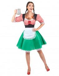 Costume da cameriera bavarese per donna