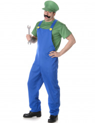 Costume da idraulico verde da uomo
