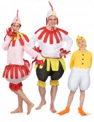 Costume da famiglia di gallo, gallina e pulcino