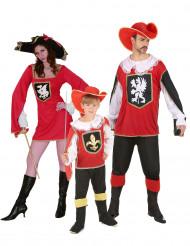Costume di famiglia Moschettiere Rosso