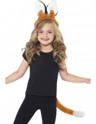 Kit di accessori per costume da volpe per bambina