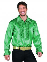 Camicia disco verde da uomo
