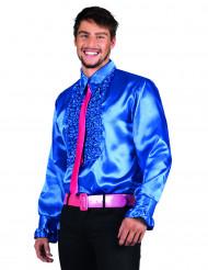 Camicia disco blu da uomo