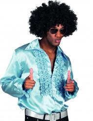 Camicia disco blu chiara da uomo