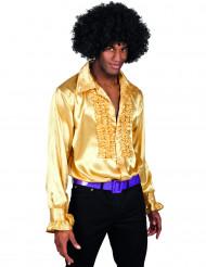Camicia disco dorata da uomo