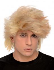 Parrucca bionda cotonata uomo