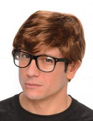 Parrucca agente segreto con occhiali adulto