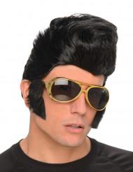 Parrucca stella del rock con occhiali
