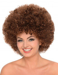 Parrucca Afro/clown castana donna